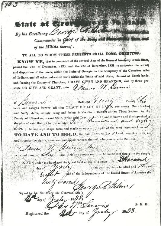 1830 Land Grant